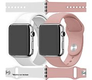 Ibroz Apple Watch SoftTouch 40mm blanc+rose x2