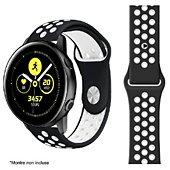 Bracelet Ibroz Samsung/Huawei Sport 20mm noir/blanc
