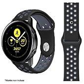 Bracelet Ibroz Samsung/Huawei Sport 20mm noir/gris