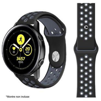 Ibroz Samsung/Huawei Sport 20mm noir/gris