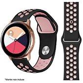 Bracelet Ibroz Samsung/Huawei Sport 20mm noir/rose
