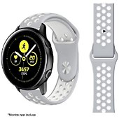 Bracelet Ibroz Samsung/Huawei Sport 20mm gris/blanc