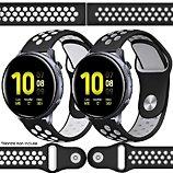 Bracelet Ibroz  Samsung/Huawei Sport 20mm blanc+gris x2