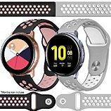Bracelet Ibroz  Samsung/Huawei Sport 20mm noir+gris x2