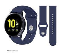 Bracelet Ibroz  Samsung/Huawei SoftTouch 20mm bleu
