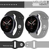 Bracelet Ibroz Samsung/Huawei SoftTouch 20mm noir+gris