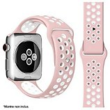 Bracelet Ibroz Apple Watch Sport 42/44/45mm rose/blanc