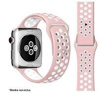 Bracelet Ibroz  Apple Watch Sport 44mm rose/blanc