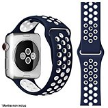 Bracelet Ibroz  Apple Watch Sport 44mm bleu/blanc