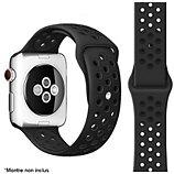 Bracelet Ibroz  Apple Watch Sport 44mm noir mat