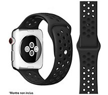 Bracelet Ibroz  Apple Watch Sport 44mm noir mat