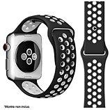 Bracelet Ibroz  Apple Watch Sport 44mm noir/blanc