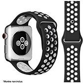 Bracelet Ibroz Apple Watch Sport 44mm noir/blanc