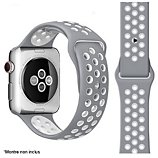 Bracelet Ibroz  Apple Watch Sport 44mm gris/blanc