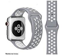 Bracelet Ibroz  Apple Watch Sport 44mm gris/blanc