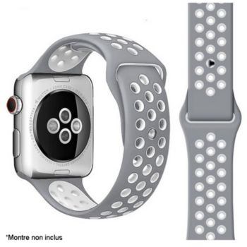 Ibroz Apple Watch Sport 44mm gris/blanc