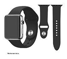 Bracelet Ibroz  Apple Watch SoftTouch 44mm noir