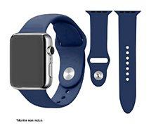 Bracelet Ibroz  Apple Watch SoftTouch 44mm bleu nuit