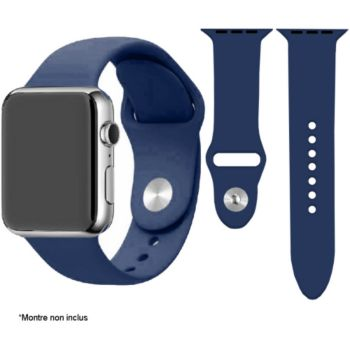 Ibroz Apple Watch SoftTouch 44mm bleu nuit