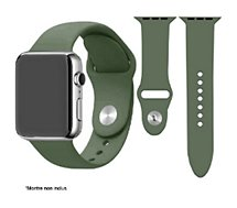 Bracelet Ibroz  Apple Watch SoftTouch 44mm vert olive
