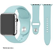 Bracelet Ibroz Apple Watch SoftTouch 44mm bleu ciel