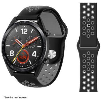 Ibroz Samsung/Huawei Sport 22mm noir/gris