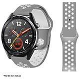 Bracelet Ibroz  Samsung/Huawei Sport 22mm gris/blanc