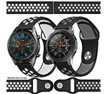 Bracelet Ibroz  Samsung/Huawei Sport 22mm blanc+gris x2