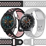 Bracelet Ibroz  Samsung/Huawei Sport 22mm noir+gris x2