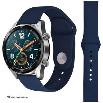 Ibroz Samsung/Huawei SoftTouch 22mm bleu