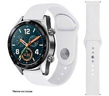 Bracelet Ibroz  Samsung/Huawei SoftTouch 22mm blanc