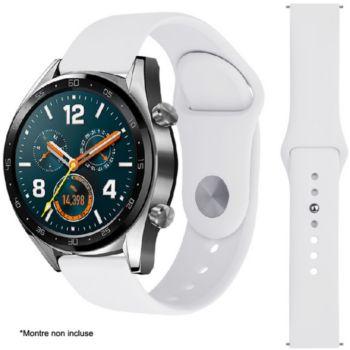 Ibroz Samsung/Huawei SoftTouch 22mm blanc