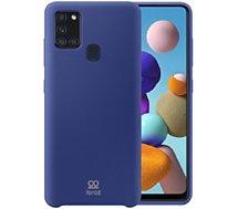 Coque Ibroz  Samsung A21s Liquid Silicone bleu
