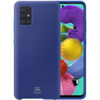 Ibroz Samsung A71 Liquid Silicone bleu