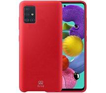 Coque Ibroz  Samsung A71 Liquid Silicone rouge