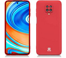Coque Ibroz  Xiaomi Note 9 Pro Liquid Silicone rouge