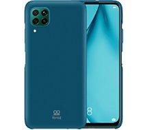 Coque Ibroz  Huawei P40 Lite Liquid Silicone bleu