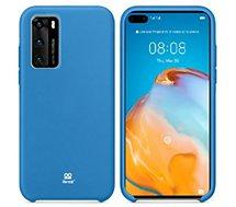 Coque Ibroz  Huawei P40  Liquid Silicone bleu