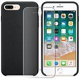 Pack Ibroz  iPhone 6/7/8 Plus Liquid Silicone noir