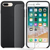 Pack Ibroz iPhone 6/7/8 Plus Liquid Silicone noir