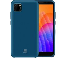 Coque Ibroz  Huawei Y5P Liquid Silicone bleu