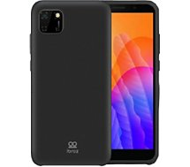 Coque Ibroz  Huawei Y5P Liquid Silicone noir
