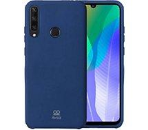 Coque Ibroz  Huawei Y6P 2020 Liquid Silicone bleu