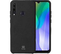 Coque Ibroz  Huawei Y6P 2020 Liquid Silicone noir