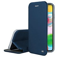 Etui Ibroz  Samsung A41 Cuir bleu