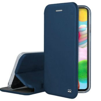 Ibroz Samsung A41 Cuir bleu