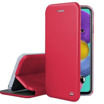 Ibroz Samsung A51 Cuir rouge