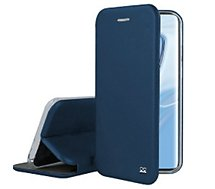 Etui Ibroz  Xiaomi Mi 10 Cuir bleu