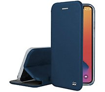 Etui Ibroz  iPhone 12 mini Cuir bleu