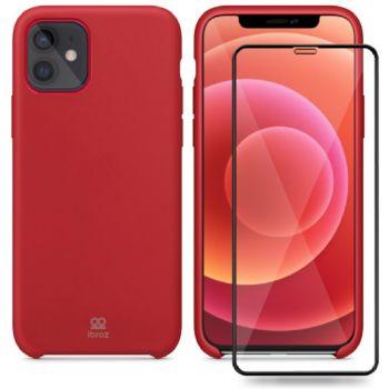 Ibroz iPhone 12/12 Pro Coque rouge